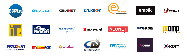 Logotypy partnerów związanych z akcją Covid-19
