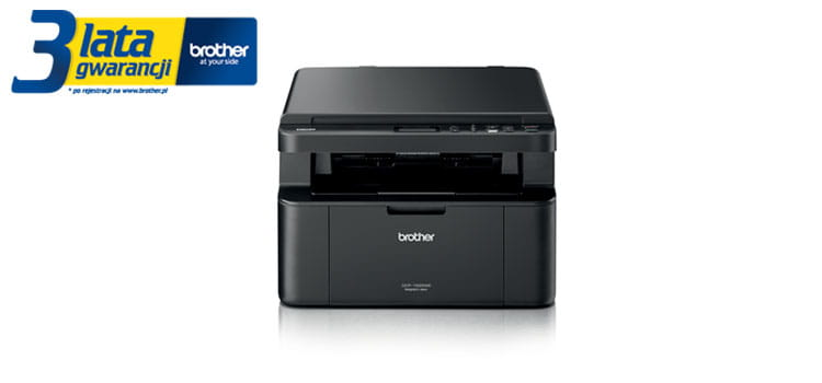 Brother TonerBenefit printer DCP-1622WE product picture with 3 years warranty logotype