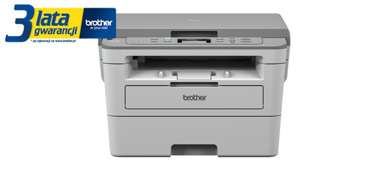 DCP-B7520DW printer with 3 years warranty sticker
