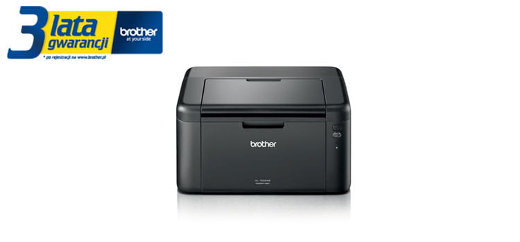 Brother TonerBenefit printer HL-1222WE product picture with 3 years warranty logotype