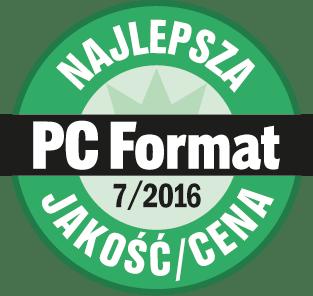 Wyróżenienie PC Format Najlepsza jakość i cena lipiec 2016