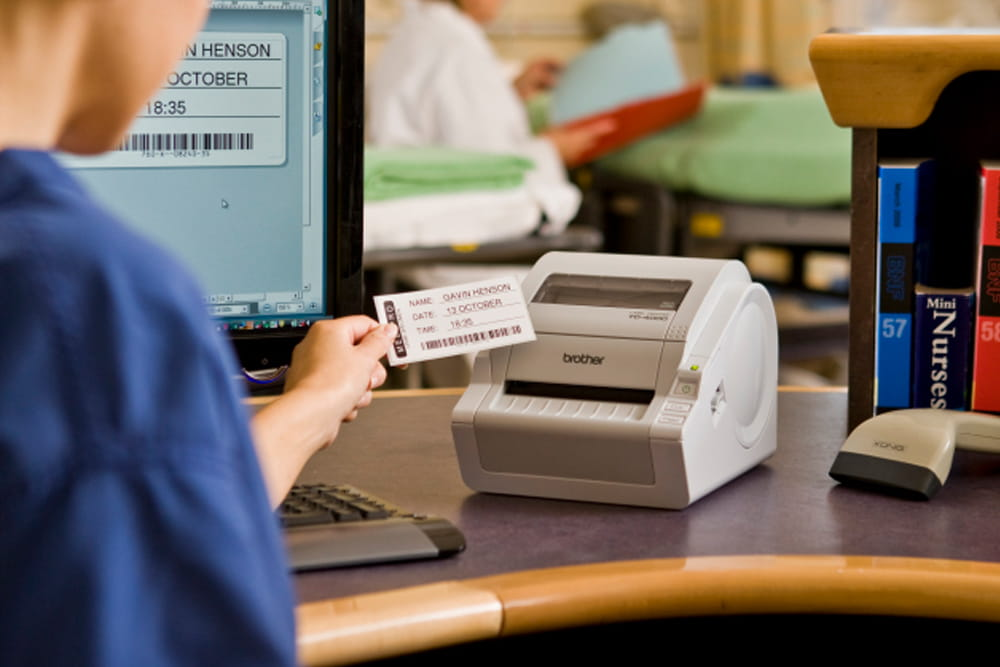 Wydruk plakietki z nazwiskiem pacjenta