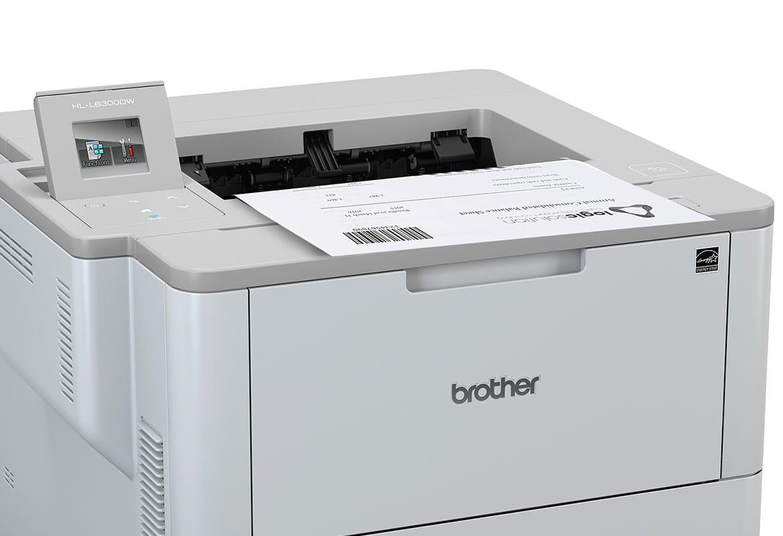 HL-L6300DW drukuje dokument z kodem kreskowym