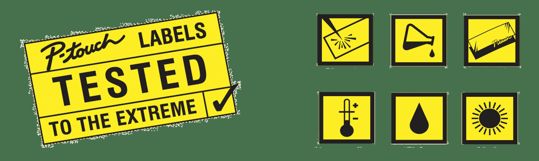 Etykiety P-Touch testowane do ekstremalnych warunków