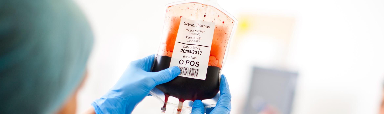 worek z krwią opieka kliniczna