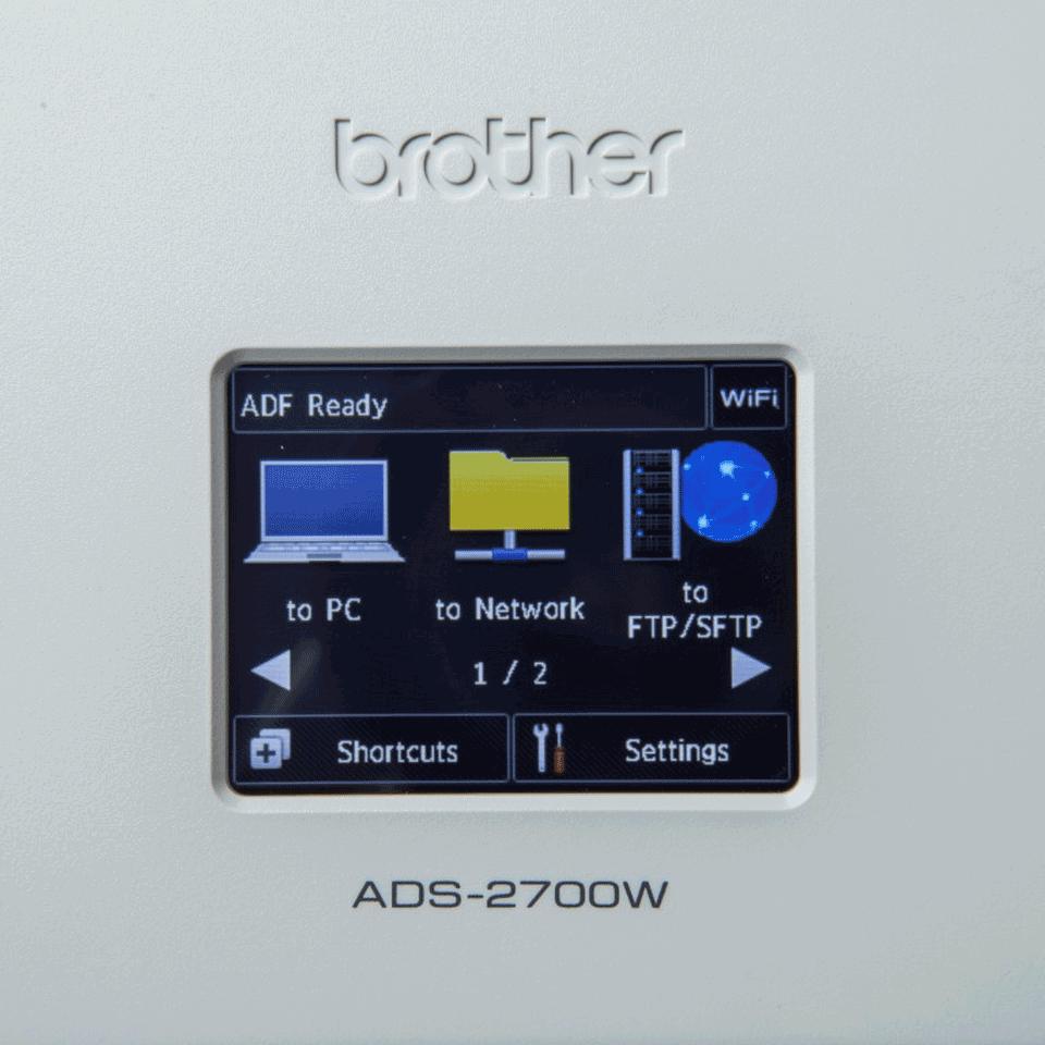 Sieciowy skaner dokumentów Brother ADS-2700W 7