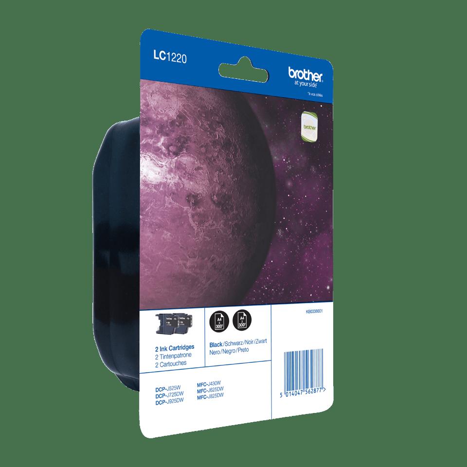 Oryginalny dwupak tuszy Brother LC1220BKBP2 - czarny 2