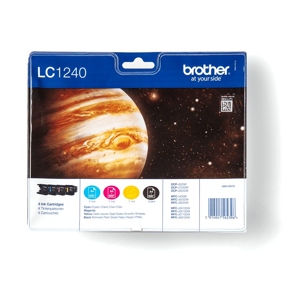 Oryginalny zestaw tuszy Brother LC-1240VALBP