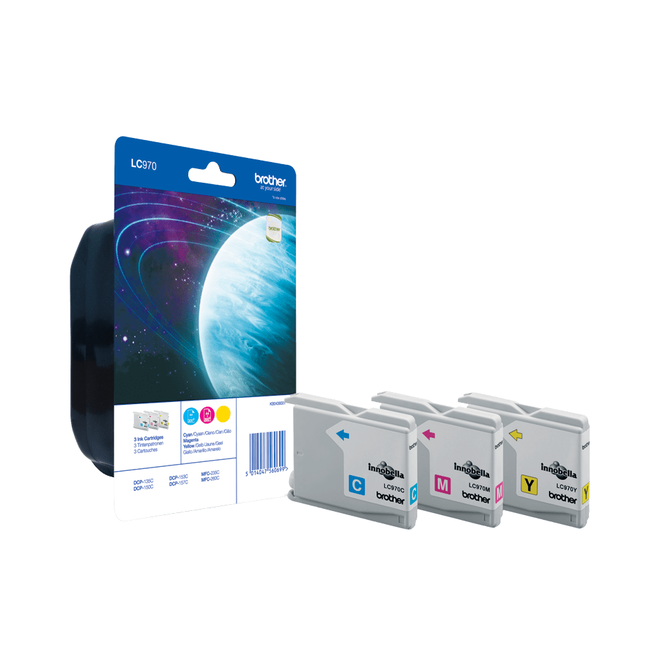 Genuine Brother LC970RBWBP Ink Cartridge Rainbow Blister Pack