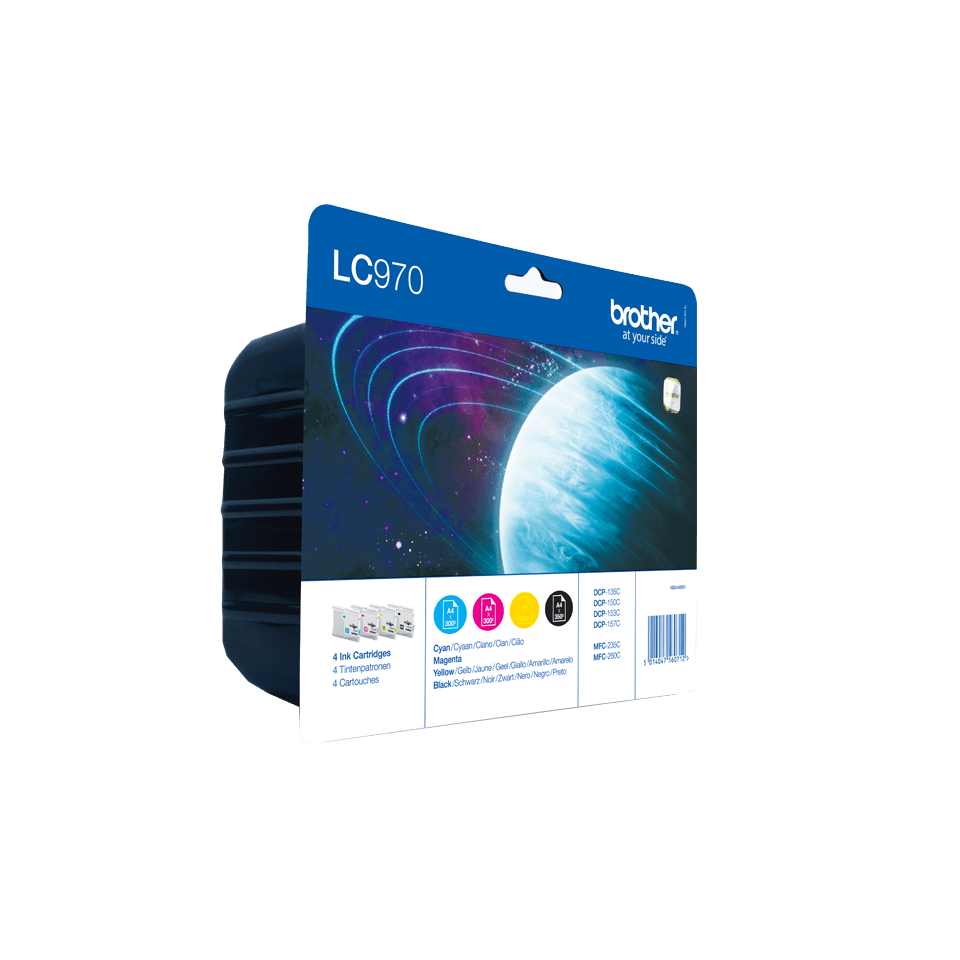 Oryginalny zestaw tuszy Brother LC-970VALBP 2