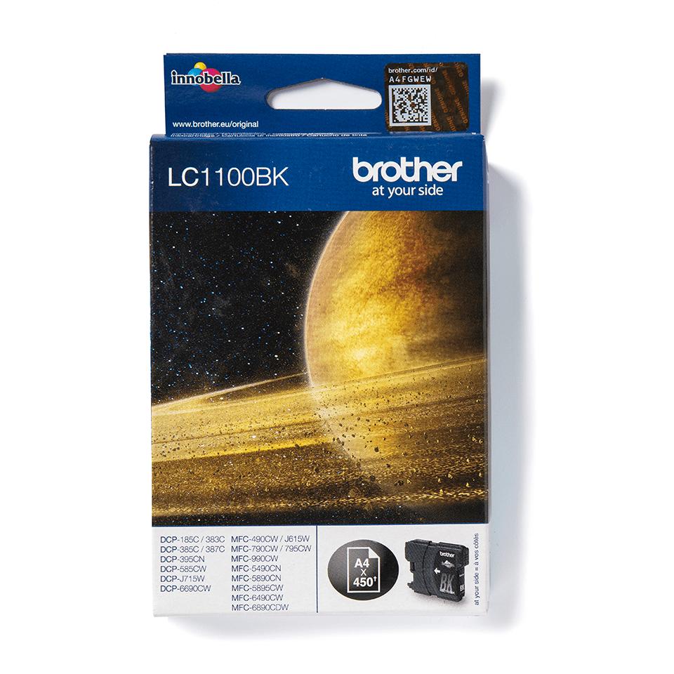 Oryginalny czarny tusz LC1100BK firmy Brother