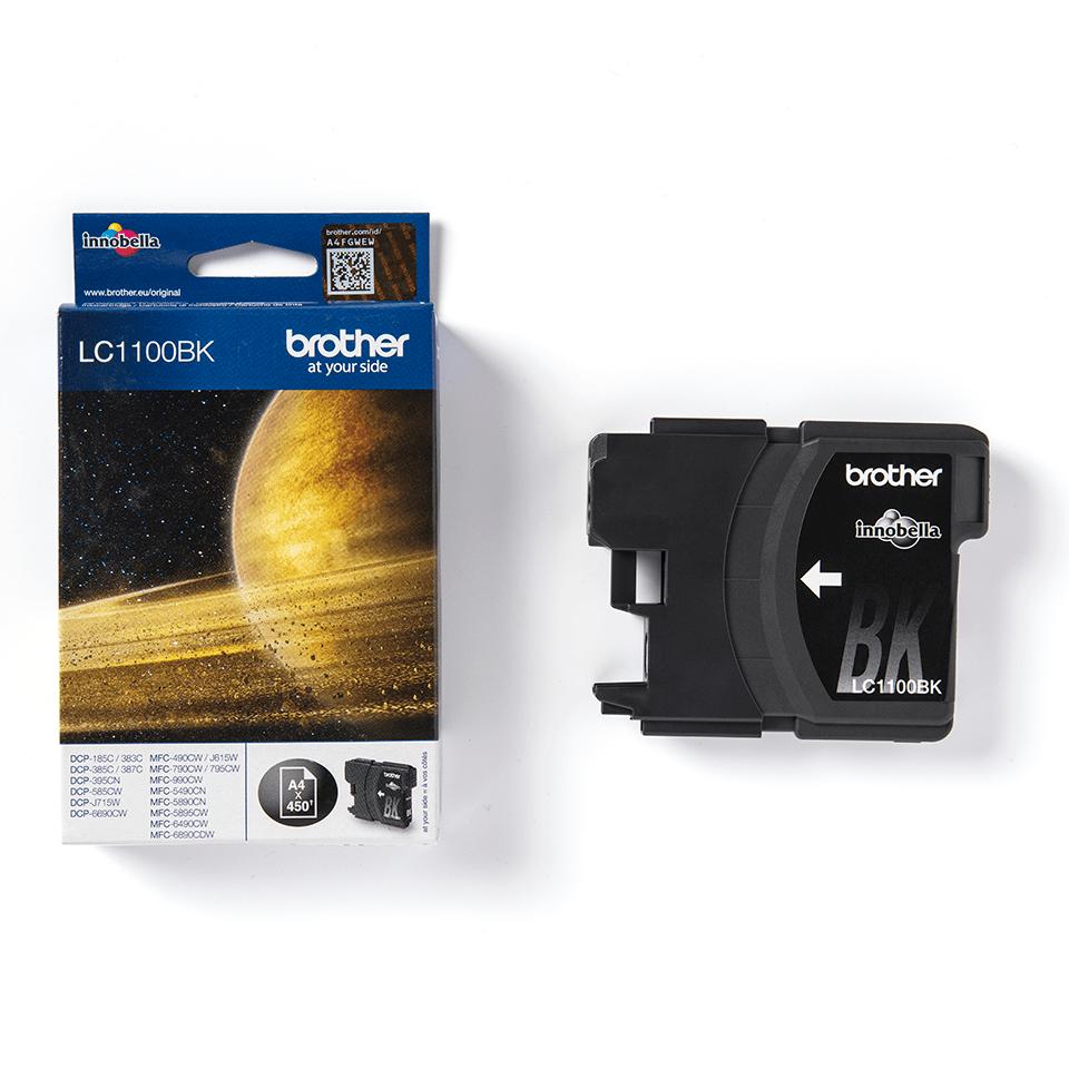 Oryginalny czarny tusz LC1100BK firmy Brother 3