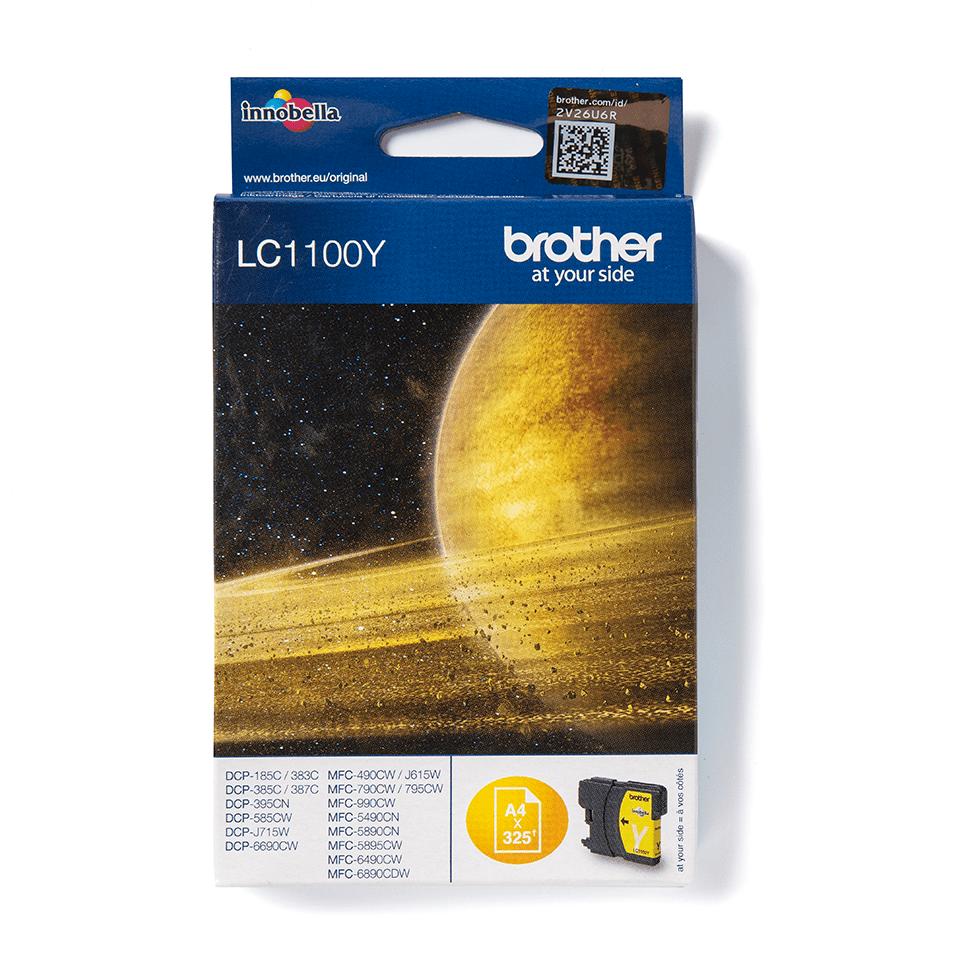 Oryginalny żółty tusz firmy Brother LC1100Y firmy Brother