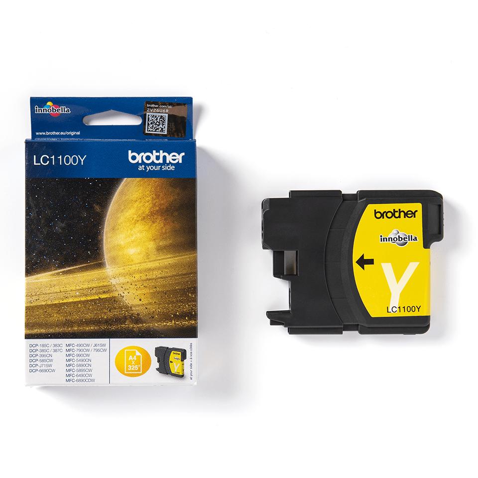 Oryginalny żółty tusz firmy Brother LC1100Y firmy Brother 3