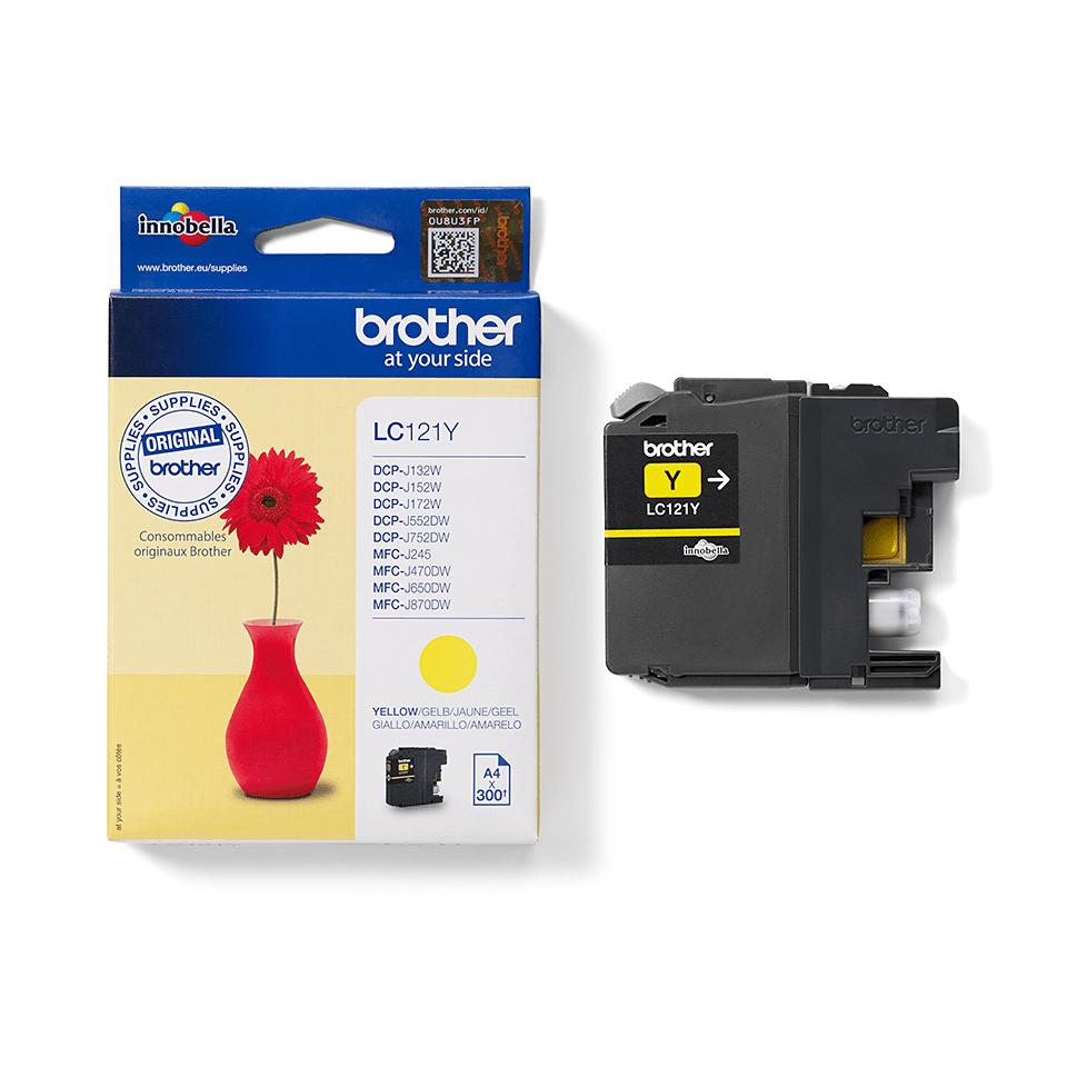 LC121Y - oryginalny żółty tusz firmy Brother 2