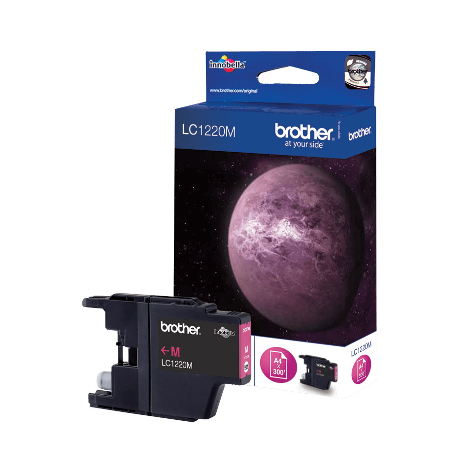 Oryginalny tusz Brother LC-1220M – magenta