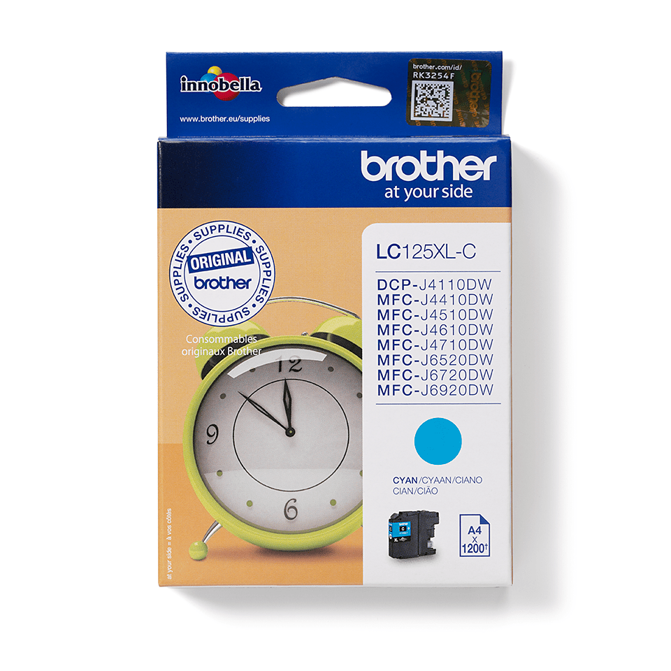 Genuine Brother LC125XLC Ink Cartridge – Cyan