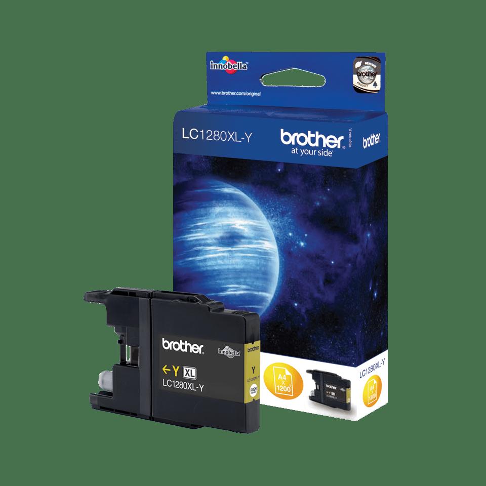 Oryginalny, wysokowydajny tusz Brother LC-1280XLY do drukarki atramentowej – żółty