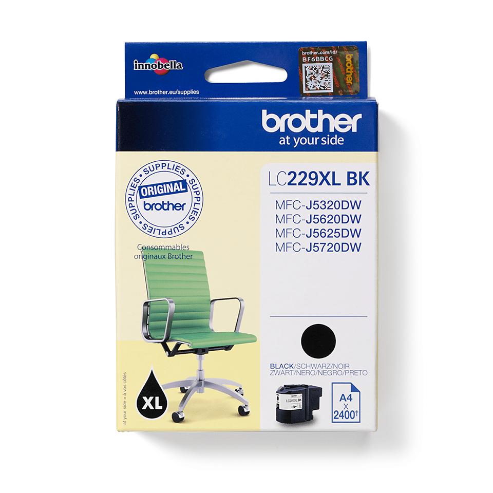 Oryginalny tusz Brother LC229XLBK  – czarny 2