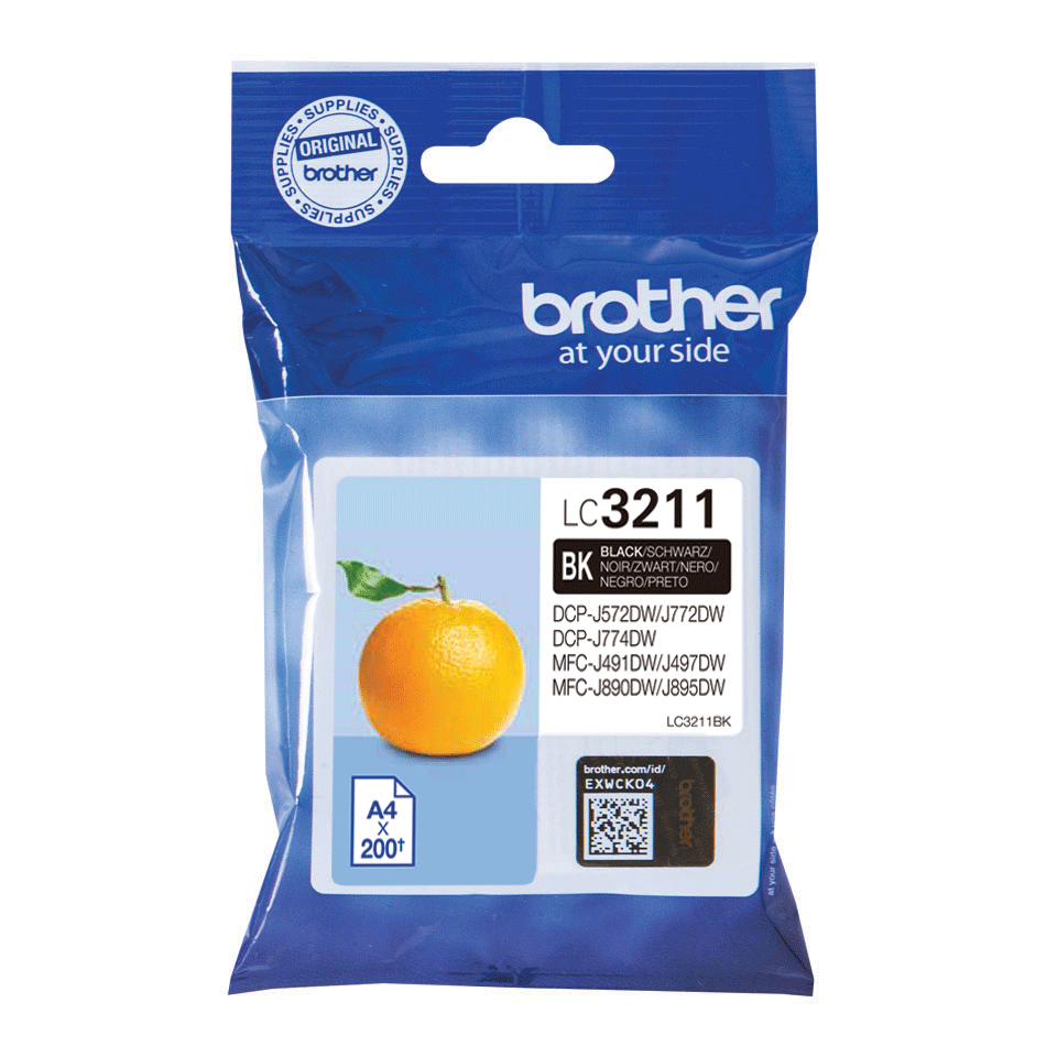 Genuine Brother LC3211BK ink cartridge - Black 3