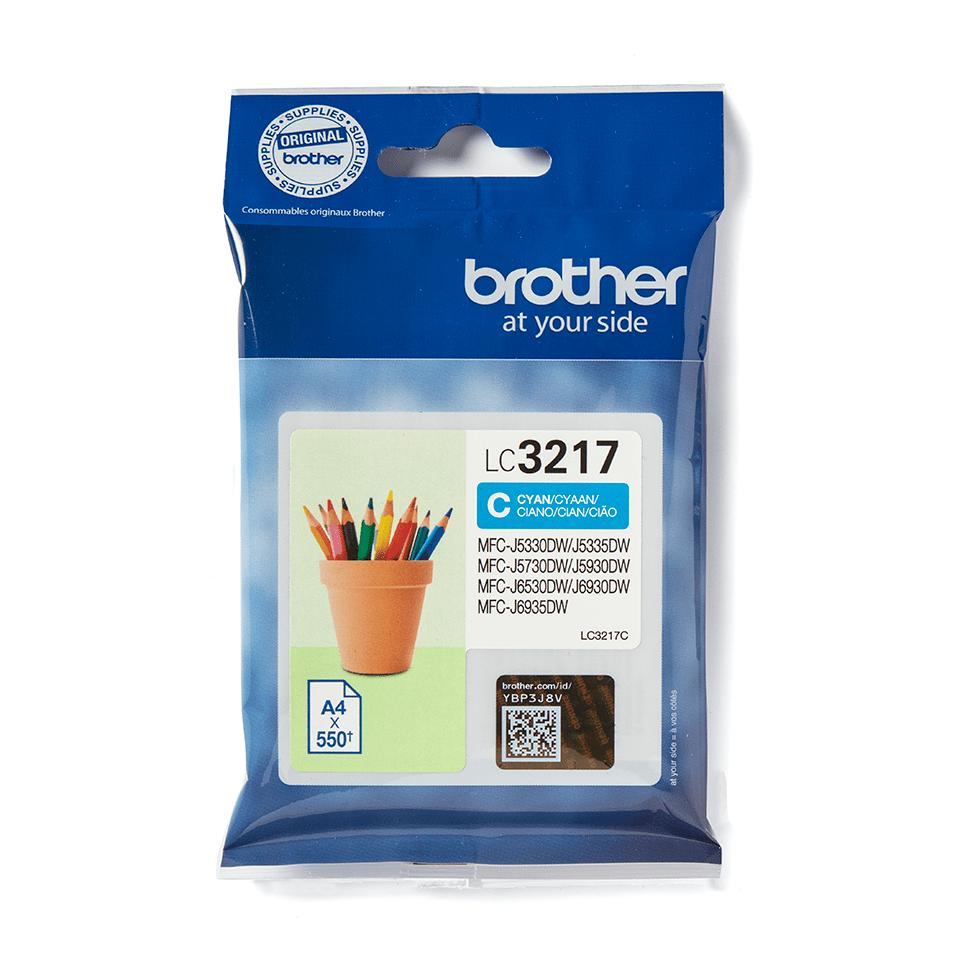 Oryginalny tusz LC3217C firmy Brother w kolorze cyan 2