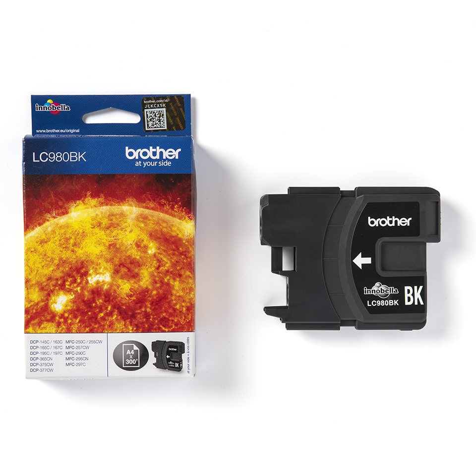 Oryginalny czarny tusz Brother LC-980BK 3