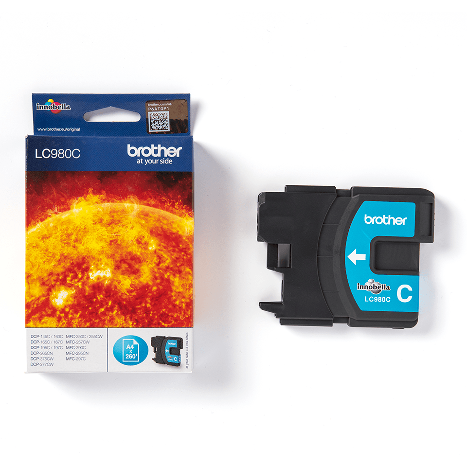 Oryginalny tusz Brother LC-980C – cyan 2