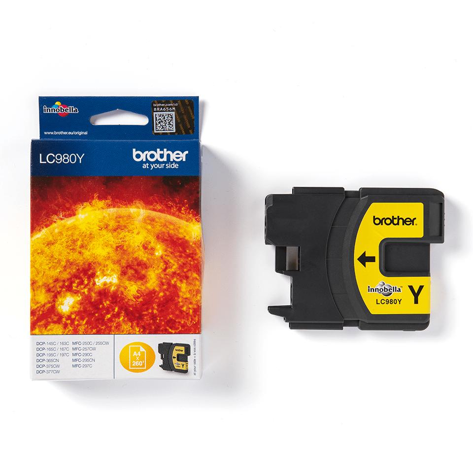 Oryginalny żółty tusz Brother LC-980Y 2