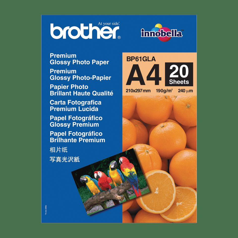 Oryginalny błyszczący papier fotograficzny firmy Brother BP-61GLA formatu A4
