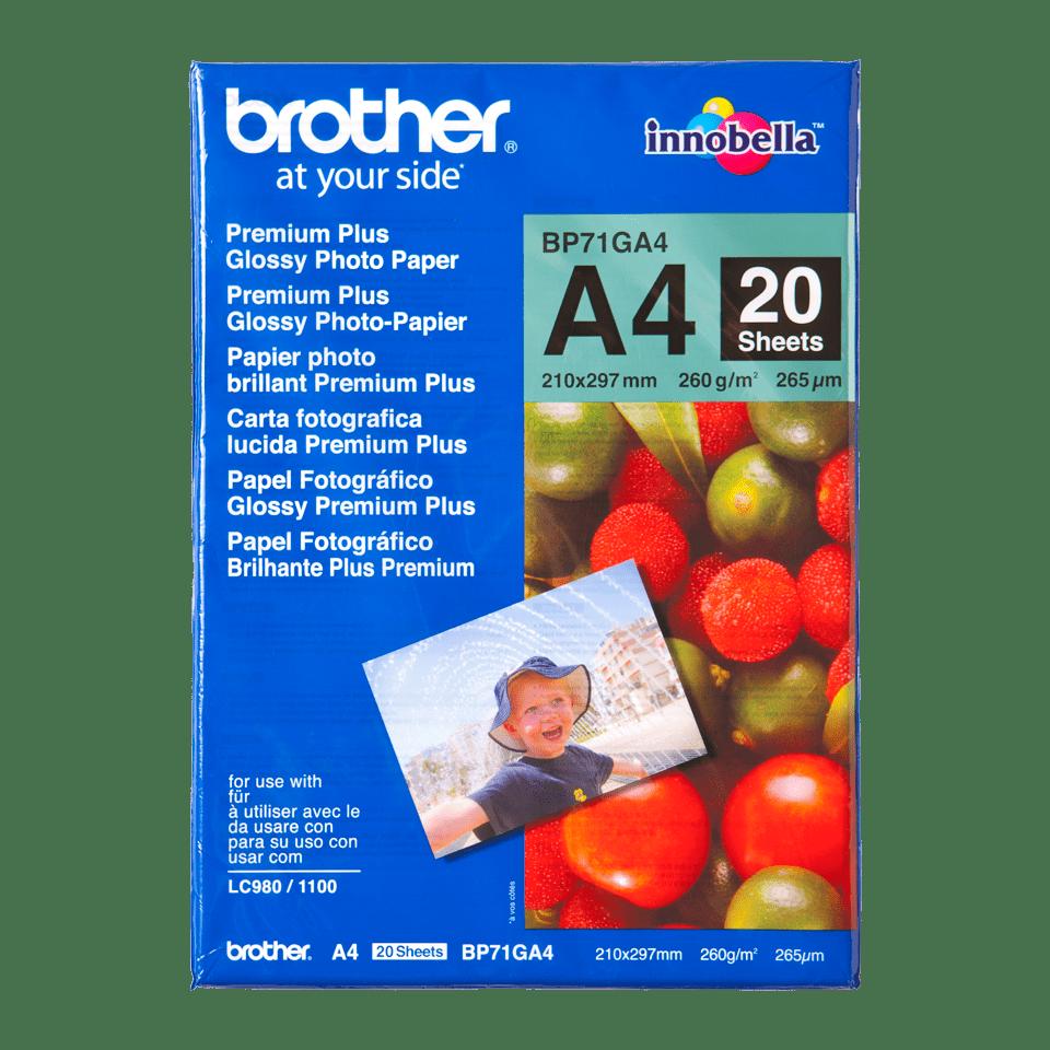 Oryginalny błyszczący papier fotograficzny firmy Brother BP-71GA4 formatu A4