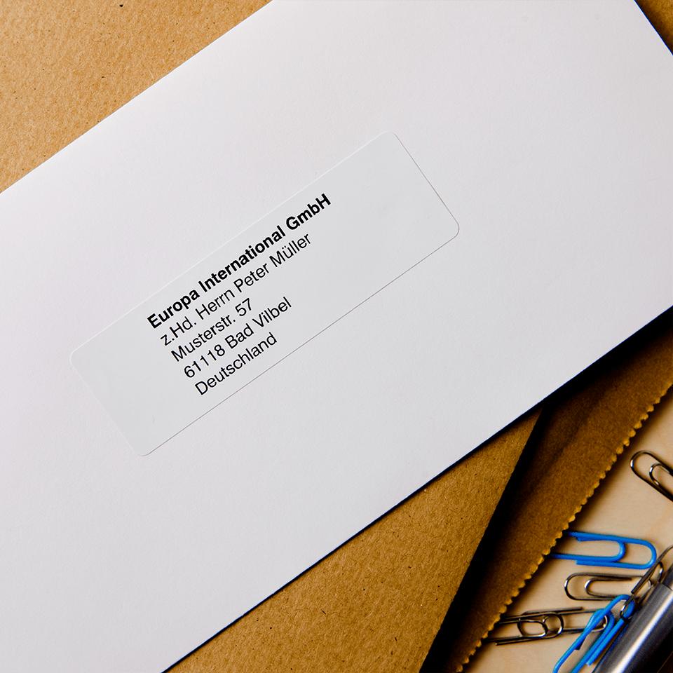 Oryginalne etykiety na rolce firmy Brother DK-11201 - czarna czcionka na białym tle, 29mm x 90mm 2
