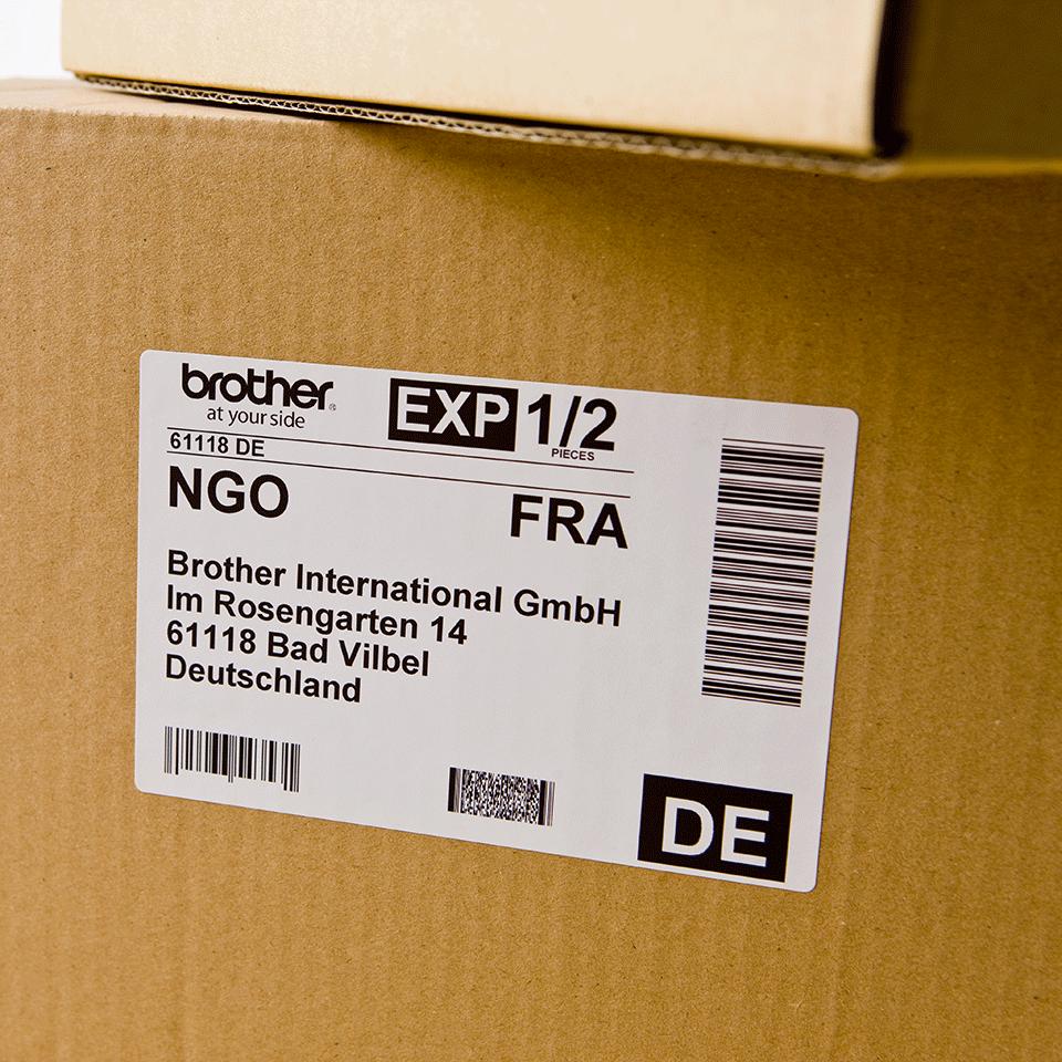 Oryginalne etykiety Brother DK-11202 na rolce – czarny nadruk na białym tle, 62mm x 100mm 2