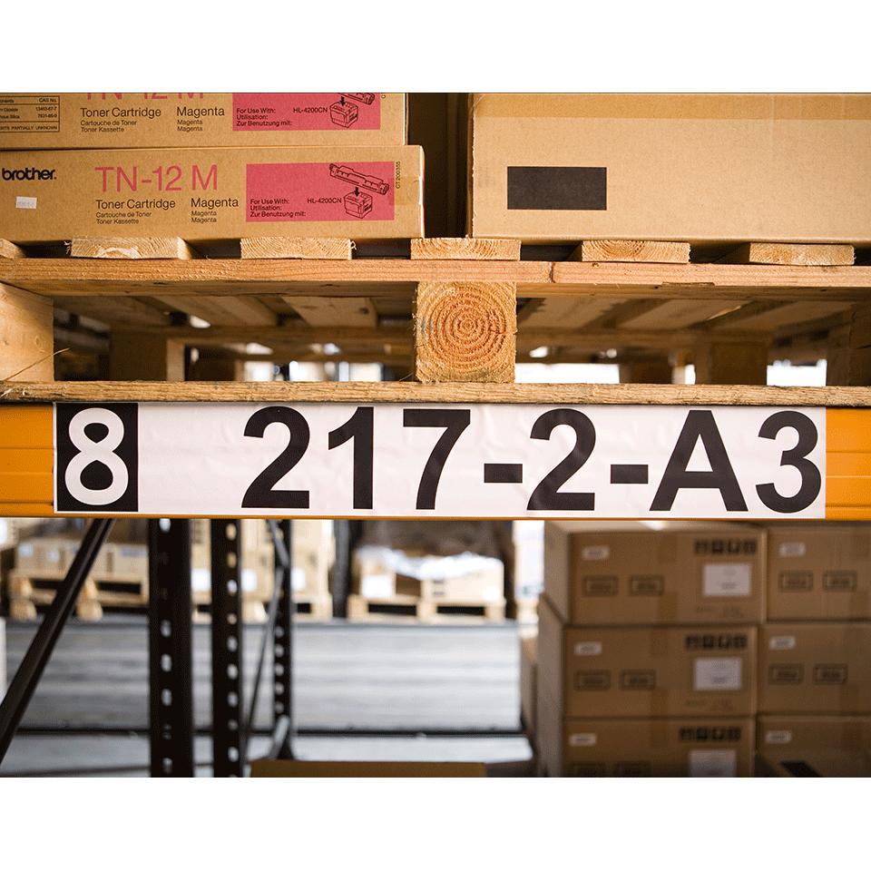 Oryginalna papierowa taśma ciągła DK-22243 firmy Brother – czarny nadruk na białym tle o szerokości 102mm 2