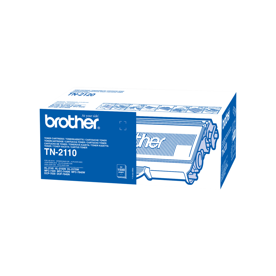 Genuine Brother TN-2110 Toner Cartridge – Black