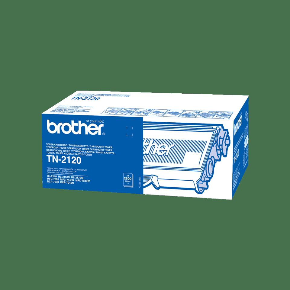 Oryginalny wysokowydajny czarny toner TN-2120 firmy Brother
