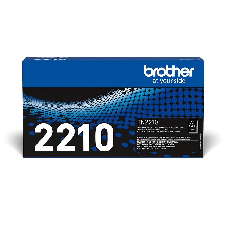 Oryginalny czarny toner TN-2210 firmy Brother