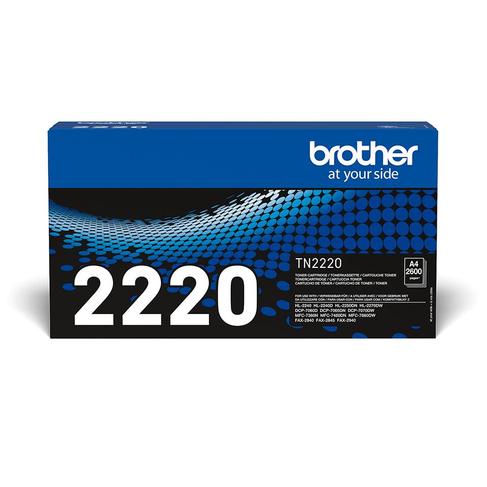 Wysokowydajny czarny toner TN-2220 firmy Brother