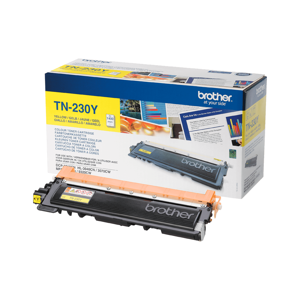 Oryginalny toner Brother TN-230Y – żółty