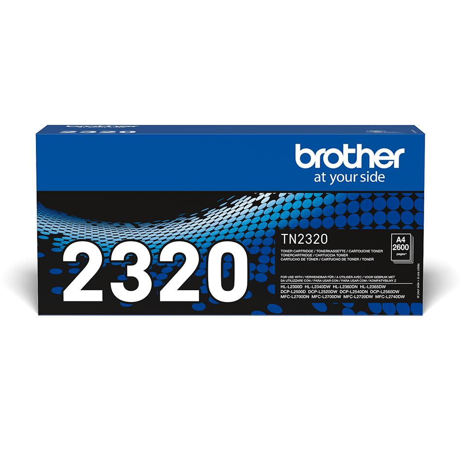 Oryginalny czarny wysokowydajny toner TN-2320 firmy Brother
