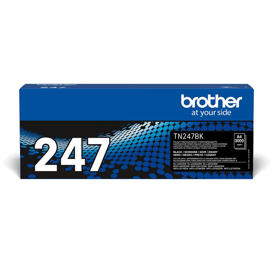 Oryginalny wysokowydajny czarny toner TN-247BK firmy Brother