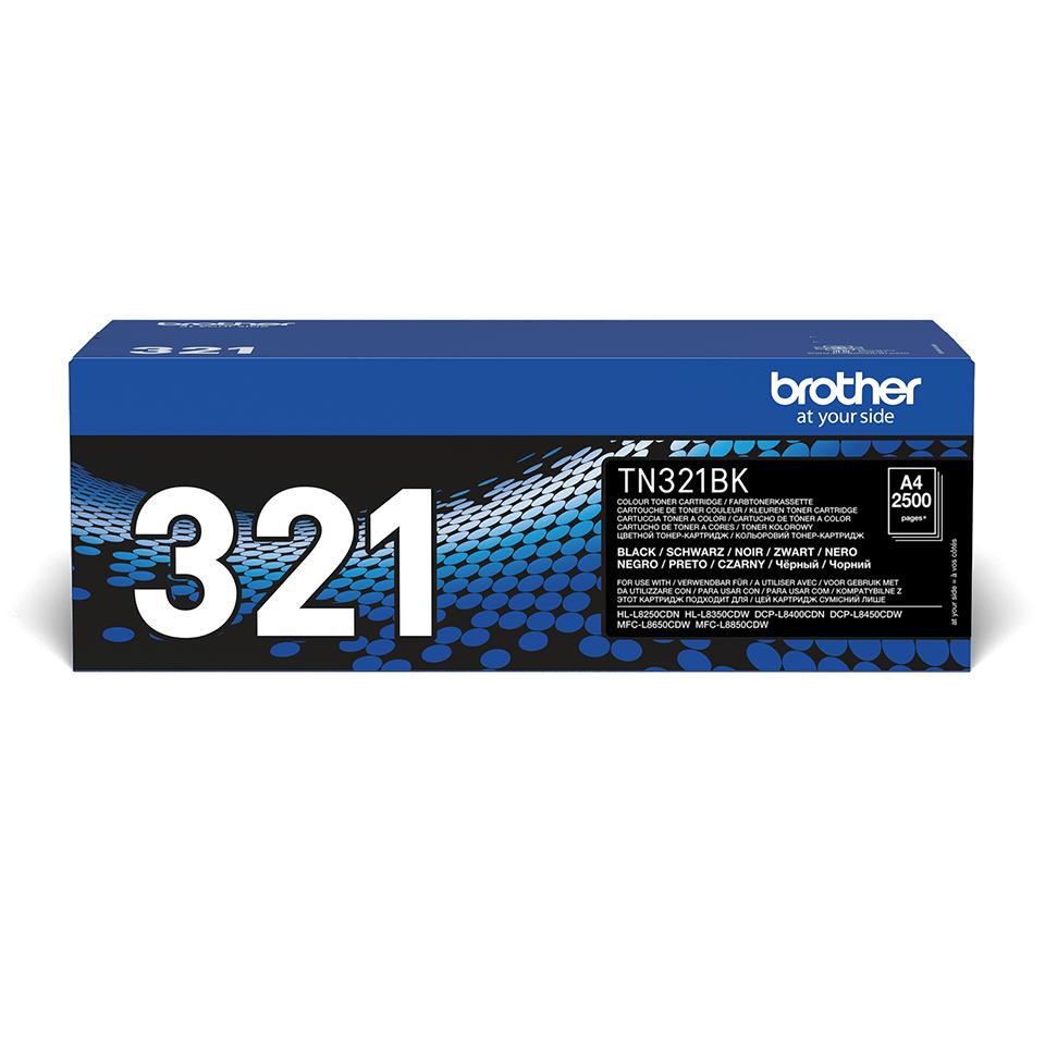 Oryginalny czarny toner Brother TN-321BK
