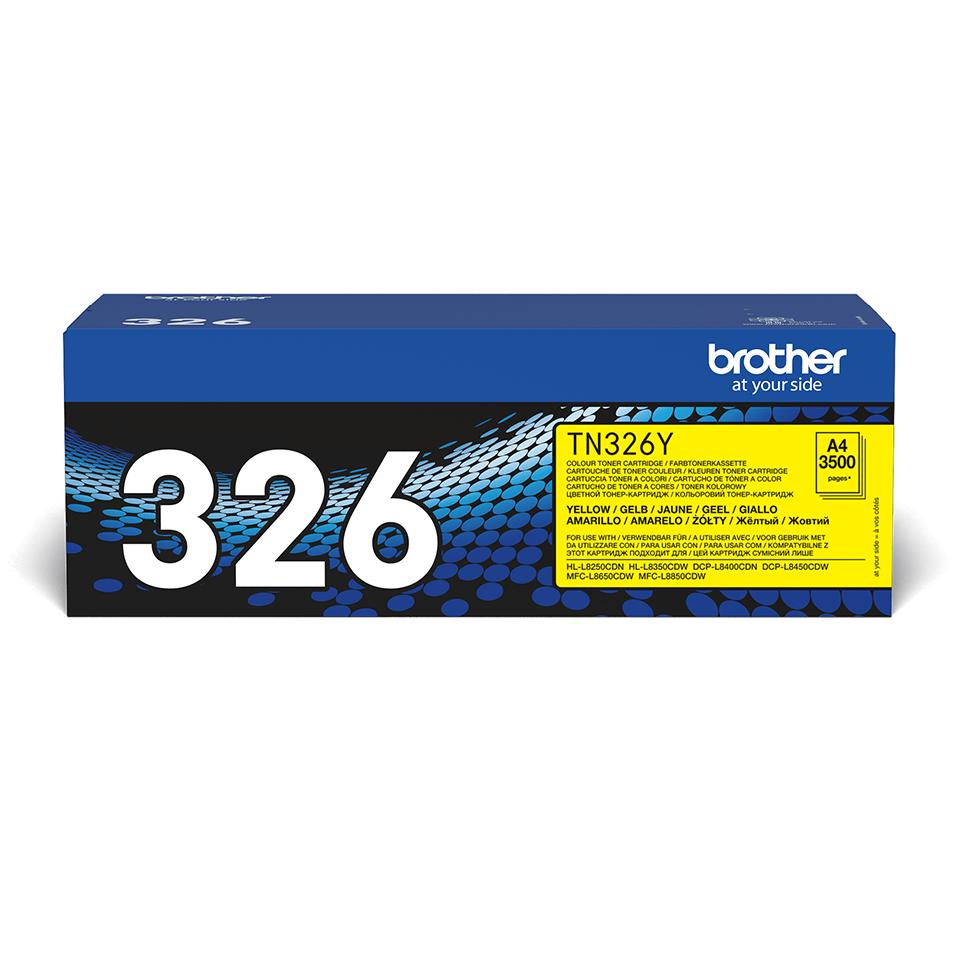 Oryginalny toner Brother TN-326Y – żółty