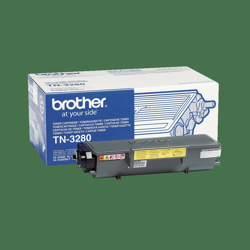 Oryginalny wysokowydajny czarny toner TN-3280 firmy Brother