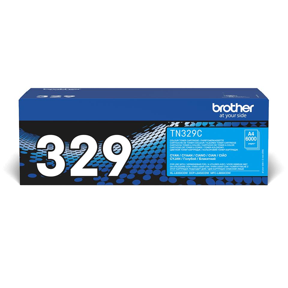 Oryginalny toner cyan firmy Brother TN-329C
