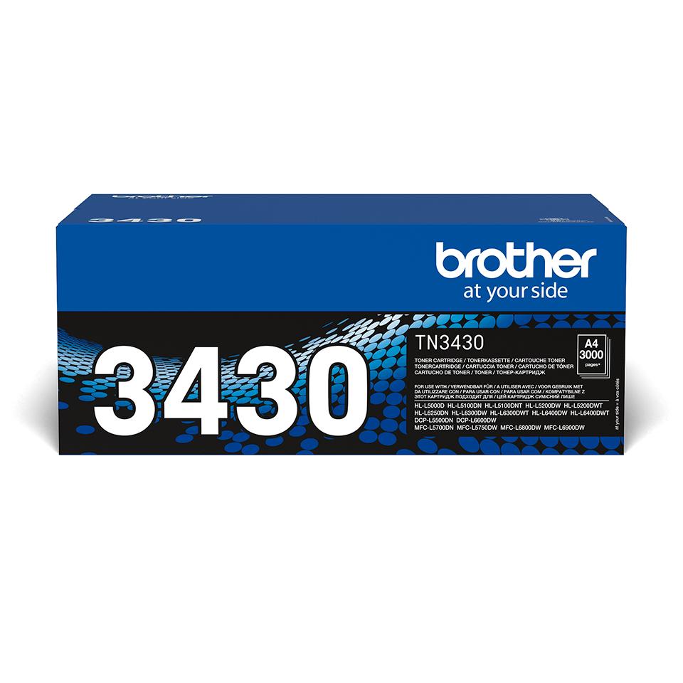 Oryginalny czarny toner Brother TN-3430