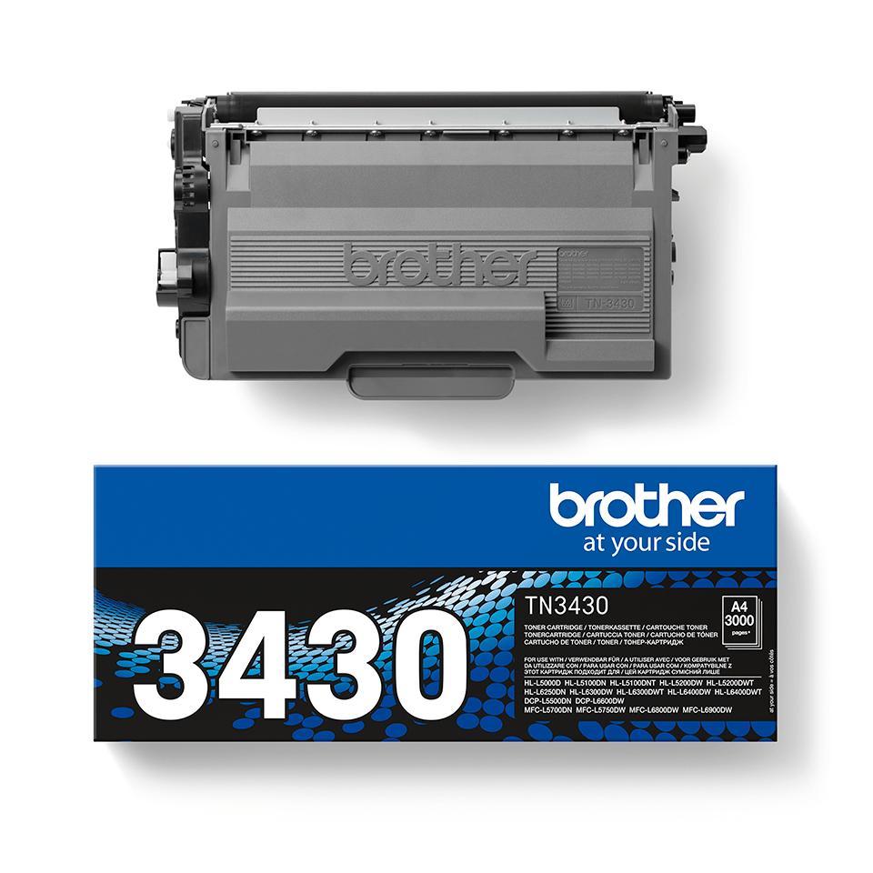 Oryginalny czarny toner Brother TN-3430 2