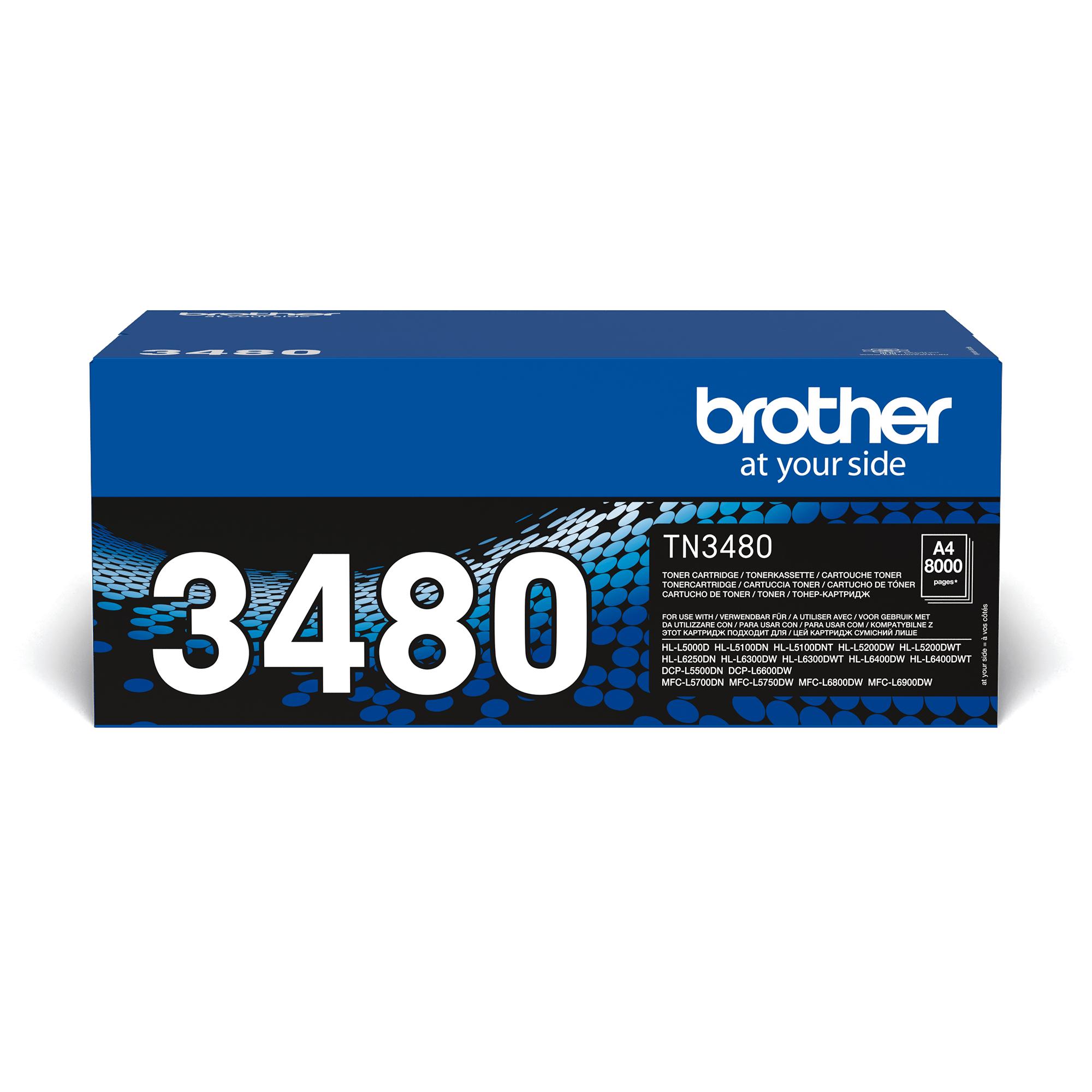 Oryginalny wysokowydajny czarny toner Brother TN-3480