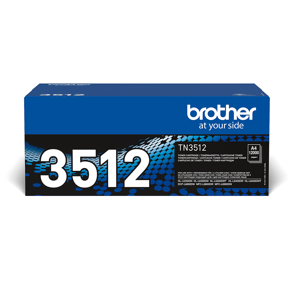 Oryginalny czarny wysokowydajny toner TN-3512 firmy Brother
