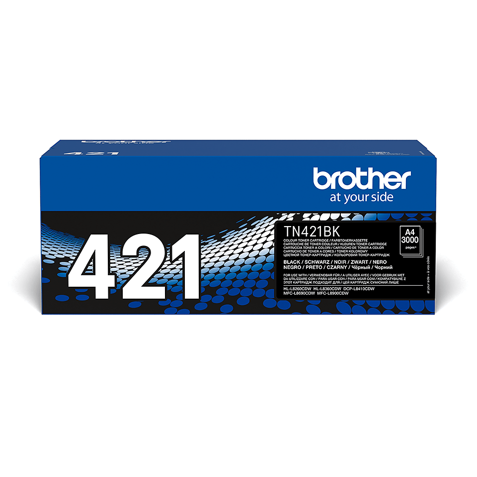 Oryginalny czarny toner Brother TN-421BK 2