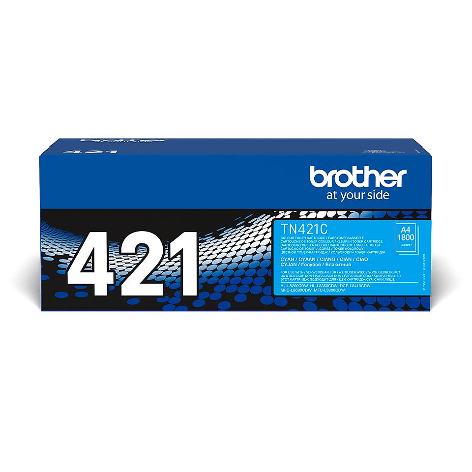 Oryginalny toner w kolorze cyan Brother TN-421C